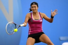 heather watson in black skirt