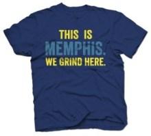 memphis we grind here t-shirt
