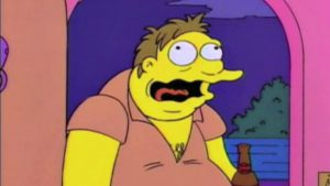 barney (from the simpson's) belching