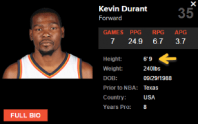 durant height