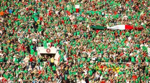mexican fans at the rose bowl when mexico played jamaica in the 2016 copa centenario
