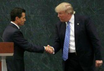 trump & peña nieto shaking hands