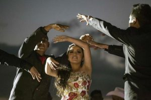 rubi dancing with her escorts