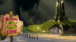 shrek's house in the swamp