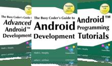 tres libros de android - un solo precio