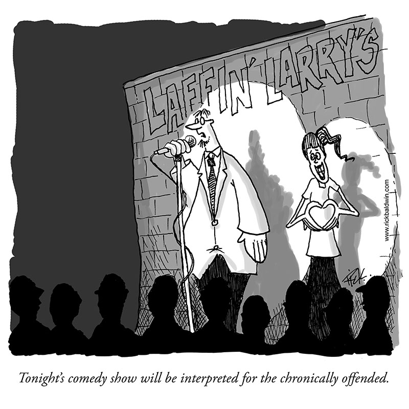 Rick Baldwin cartoon chronically offended