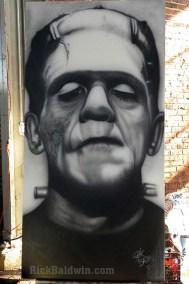Frankenstein's Monster mural