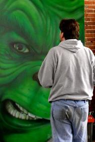 Painting The Grinch mural