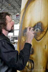Painting Hannibal mural