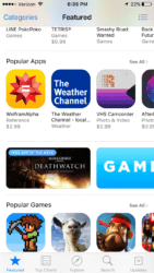 An example of how the free app of the week appears within the mobile App Store