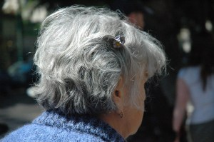 Gray-haired woman