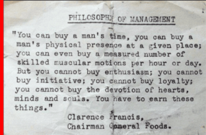 """The Philosophy of Management: """"Earn"""" these Things!"""