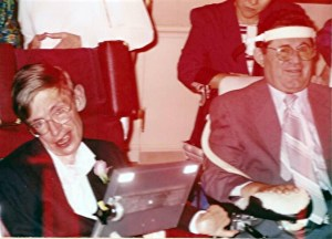 Ismail and Stephen Hawking - August 14, 1992