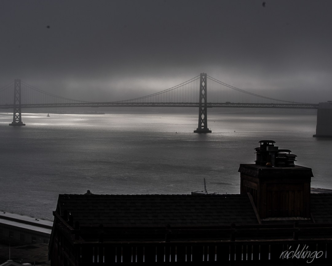 Bay Bridge in Fog