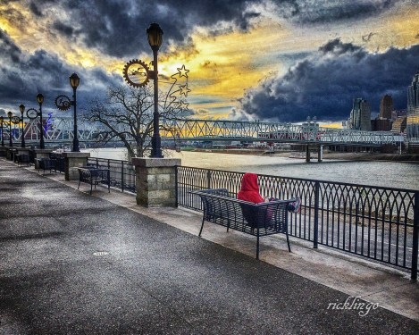 """Newport, Kentucky. """"Outstanding Creativity"""" Peer Award on the website ViewBug. 7th place award in City, Street and Park on the international website Pixoto. Top 10 selection in """"Image of the Month"""" on the international website viewbug.com."""