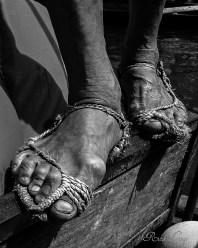Feet of a Worker