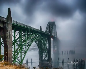 """Newport, Oregon. 2nd prize winner in """"Buildings and Architecture"""" on the international website Pixoto. Recipient of 7 Peer Awards on international website ViewBug. Chosen photo for presentation to the Ohio Valley Camera Club. Judge Commended in """"Bridges"""" contest on international website Photocrowd."""