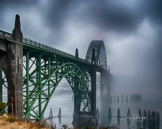 "Newport, Oregon. 2nd prize winner in ""Buildings and Architecture"" on the international website Pixoto. Recipient of 7 Peer Awards on international website ViewBug. Chosen photo for presentation to the Ohio Valley Camera Club. Judge Commended in ""Bridges"" contest on international website Photocrowd."