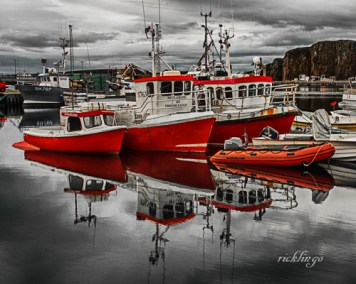 "Stykklisholmur, Iceland. Judges' Commendation in ""Selective Color"" contest on Photocrowd. 3rd place for the day in ""Transportation"" on the international website Pixoto."