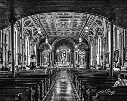 "Old Saint Mary's Church. 3rd place in ""Black and White"" for the week at international website Pixoto."