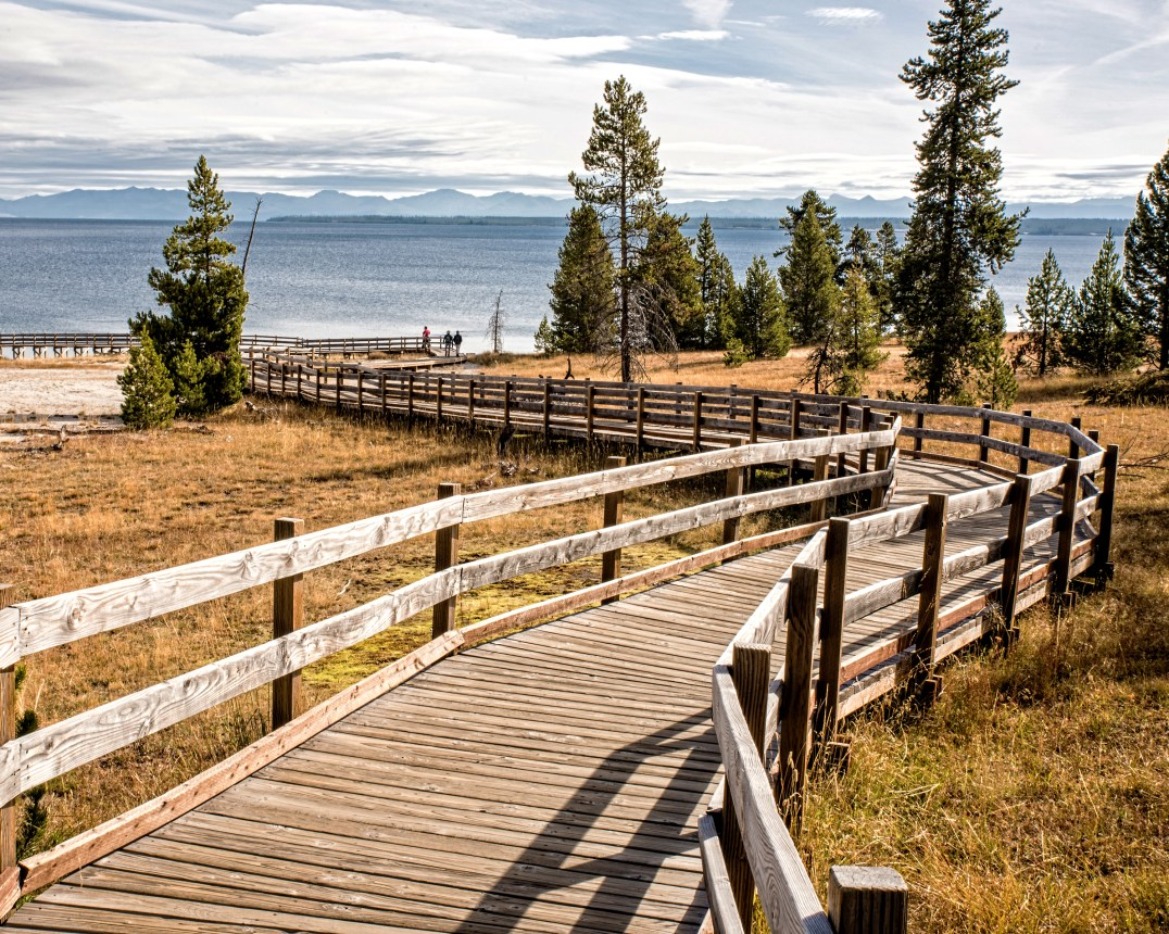 """Yellowstone Lake, Wyoming. 2nd place for the day in """"Buildings and Architecture"""" on international website Pixoto."""