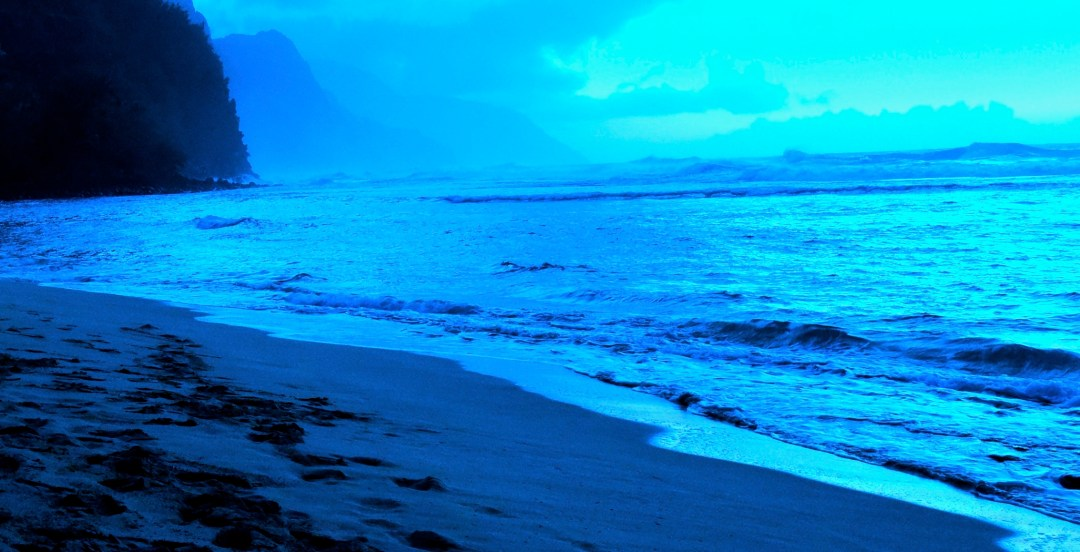 Ke'e Beach Blue Hour