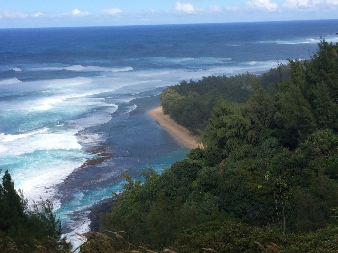 Ke'e Beach from Kalalau Trail