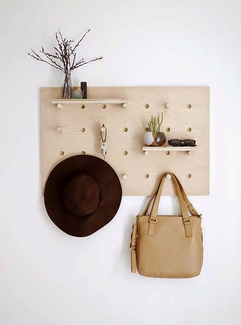 hat rack ideas using pegboard