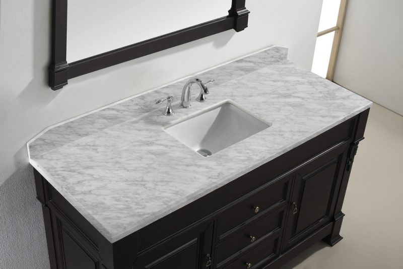 marble on top bathroom vanities single sink