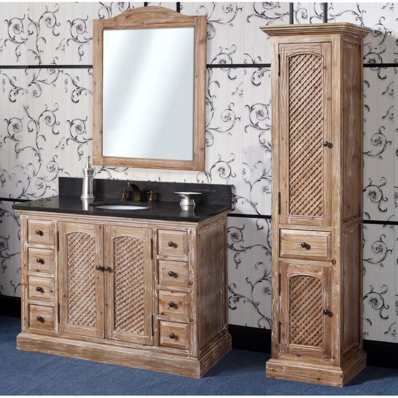 rustic bathroom vanities with beautiful pattern