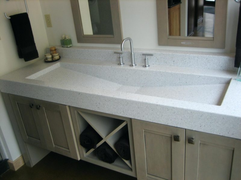 bathroom vanities single sink with a very wide top