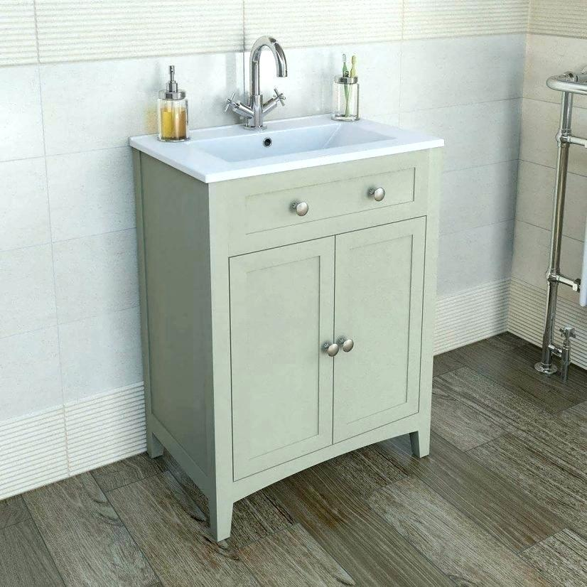 industrial look pedestal sink storage