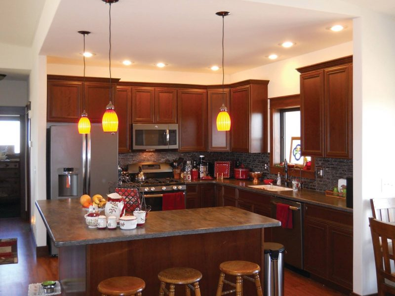 another kitchen island layout