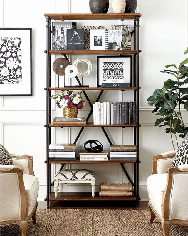 bookshelf décor ideas for a large living room area