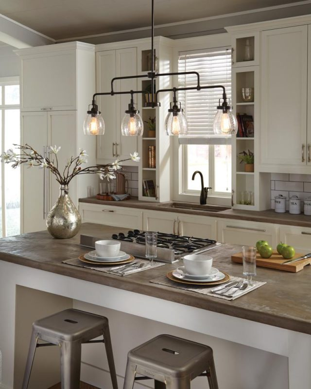 chic and pretty kitchen lighting ideas