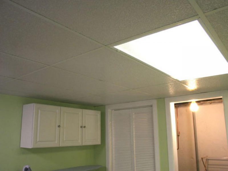 all white basement ceiling ideas
