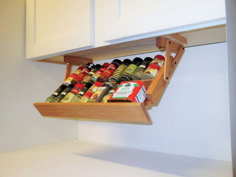 spice rack ideas attached to your cabinet