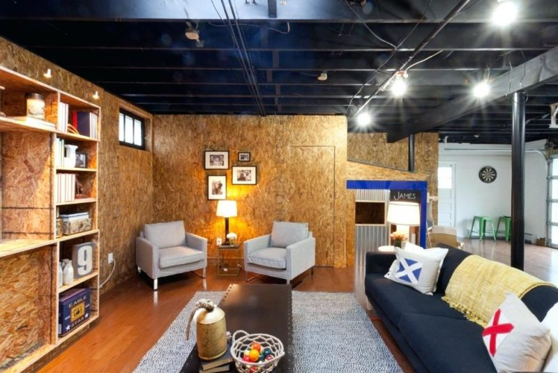 black basement ceiling ideas