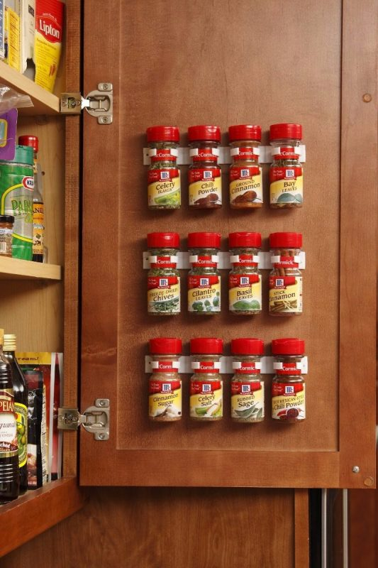 hiding spice rack ideas
