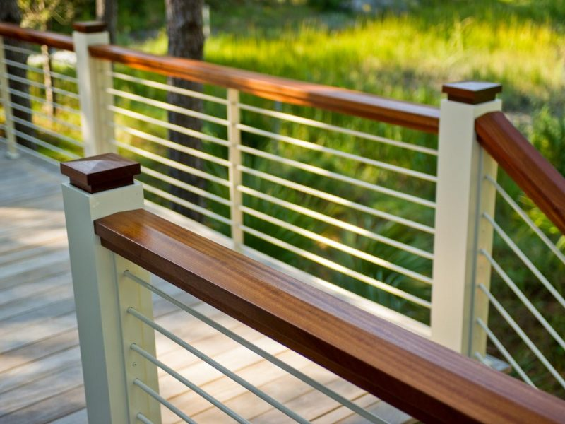 unique deck rail ideas