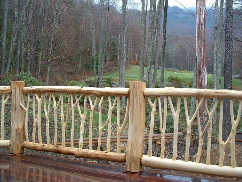 ideas for wood deck railings