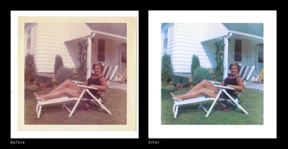 Before After - Mom Sun Chair