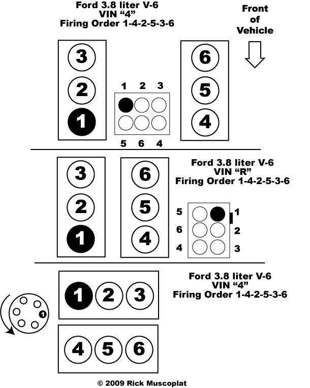 38 v6 ford firing order ricks free auto repair advice