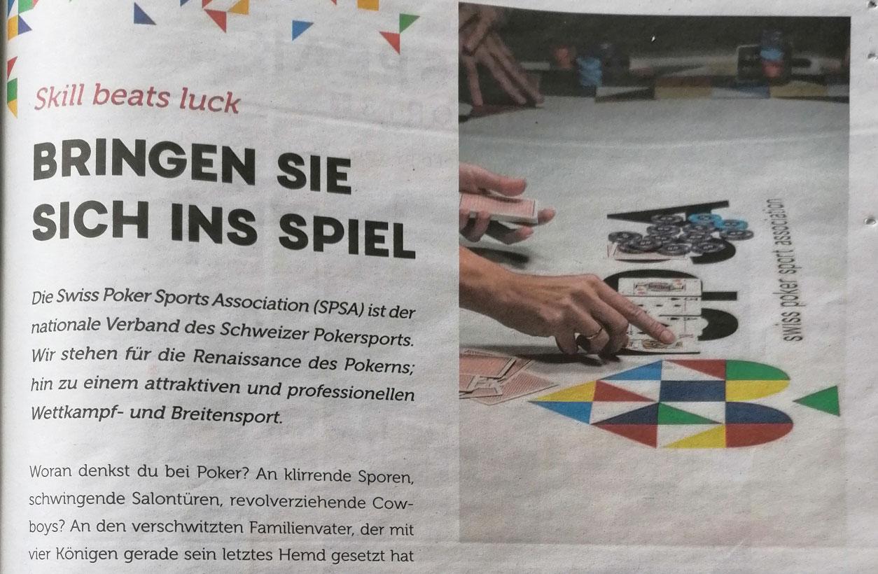 Die SPSA und die Renaissance des Pokerns