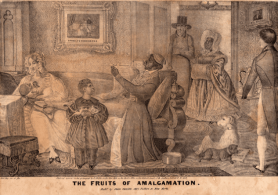 The Fruits of Amalgamation. E. W. Clay.1839.
