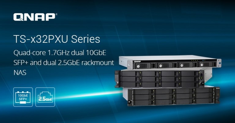 QNAP presenta la serie NAS TS-x32PXU