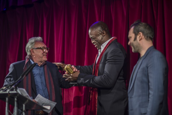 Trevor Horn with Seal at Music Producers Guild Award Ceremony