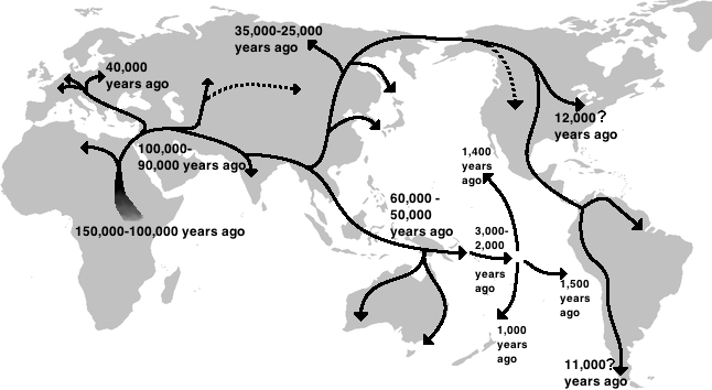Humans first interbred with Neanderthals in the Middle East around 55,000 years ago Credit: Wikimedia Commons