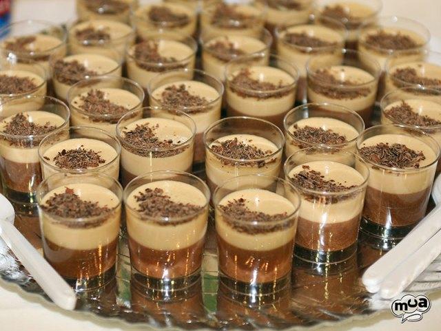 Mousse de chocolate y turrón