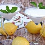 Helado cremoso de limon